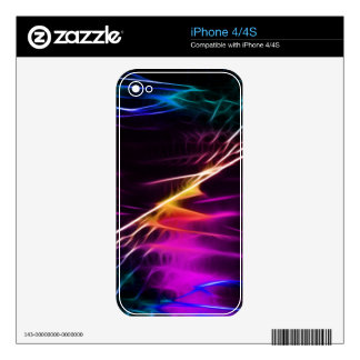 Hippie pink and purple love peace skin for the iPhone 4S