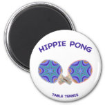 Hippie Pong Ping Pong 2 Inch Round Magnet