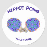 Hippie Pong Ping Pong Classic Round Sticker