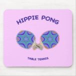 Hippie Pong Ping Pong Mousepads