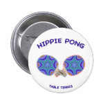 Hippie Pong Ping Pong Pinback Buttons