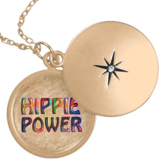 HIPPIE POWER LOCKET NECKLACE