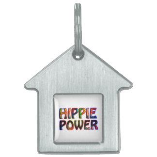 HIPPIE POWER PET NAME TAG