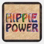 HIPPIE POWER SQUARE STICKER