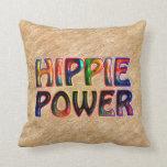 HIPPIE POWER THROW PILLOW