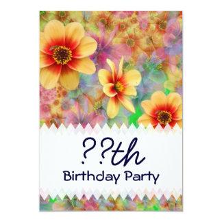 Hippie Psychedelic Flower Pattern Card