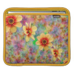 Hippie Psychedelic Flower Pattern Sleeve For iPads