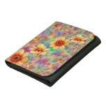 Hippie Psychedelic Flower Pattern Tri-fold Wallet