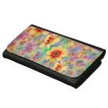 Hippie Psychedelic Flower Pattern Wallet For Women