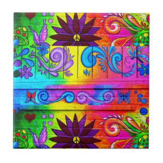 hippie psychedelic tile