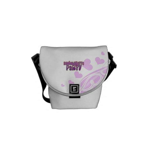 hippie purple heart bachelorette party fun courier bag