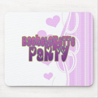 hippie purple heart bachelorette party fun mouse pad