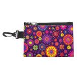 Hippie Purple Rainbow Flowers Accessories Bag