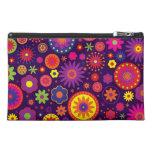 Hippie Purple Rainbow Flowers Travel Accessories Bag