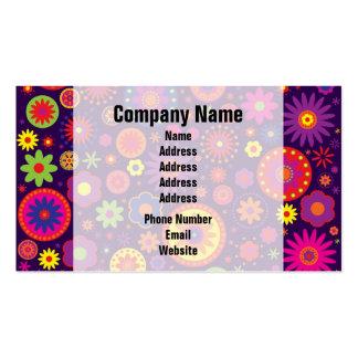 Hippie Purple Rainbow Flowers Business Card