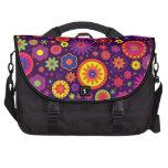 Hippie Purple Rainbow Flowers Computer Bag