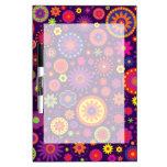 Hippie Purple Rainbow Flowers Dry-Erase Whiteboards