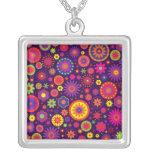 Hippie Purple Rainbow Flowers Jewelry