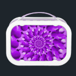 """Hippie Purple Spiral Fractal Pattern Lunch Box<br><div class=""""desc"""">Hippie style fractal spiral pattern in purple and lilac.  Customise and personalize the item by choosing a different style,  changing the colour and size or adding your own text and pictures.</div>"""