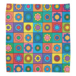 Hippie Rainbow Flower Pattern Bandanas