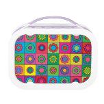 Hippie Rainbow Flower Pattern Lunch Box