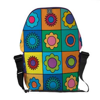 Hippie Rainbow Flower Pattern Messenger Bags
