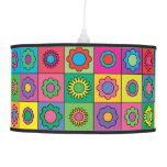 Hippie Rainbow Flower Pattern Pendant Lamp