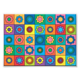 Hippie Rainbow Flower Pattern Art Photo