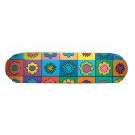 Hippie Rainbow Flower Pattern Skate Board Decks
