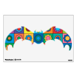 Hippie Rainbow Flower Pattern Wall Decal
