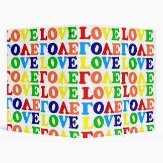 Hippie Rainbow Love Binder