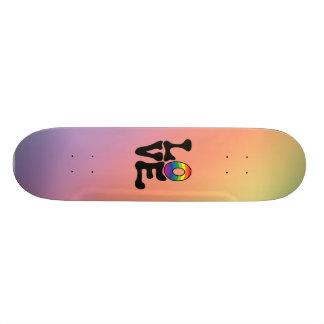 Hippie Rainbow Love Text Skateboard