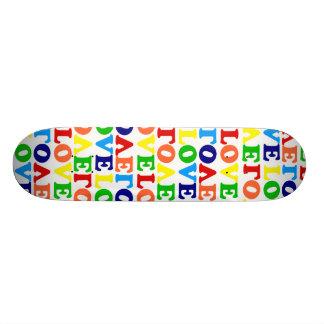 Hippie Rainbow Love Valentines Day Skateboard Deck