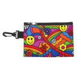 Hippie Rainbow Pattern Accessories Bag
