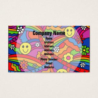 Hippie Rainbow Pattern Business Card