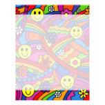 Hippie Rainbow Pattern Custom Letterhead