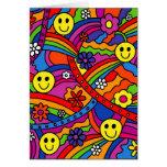 Hippie Rainbow Pattern Greeting Card