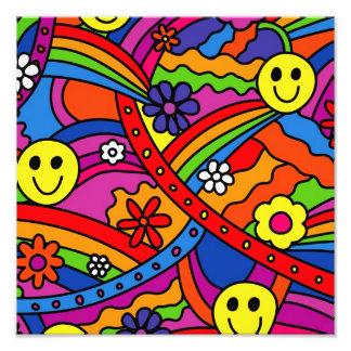 Hippie Rainbow Pattern Photo Art