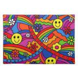 Hippie Rainbow Pattern Placemat