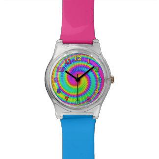 Hippie retro 2 psicodélicos del teñido anudado reloj