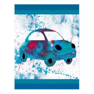 Hippie Retro Car Buggy Postcard
