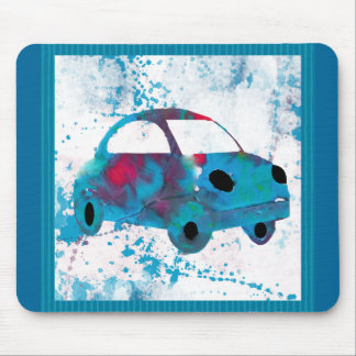Hippie Retro Car Buggy Watercolor Mouse Pad