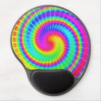 Hippie retro del teñido anudado psicodélico alfombrilla de ratón con gel