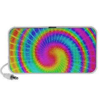 Hippie retro del teñido anudado psicodélico portátil altavoces