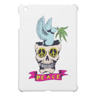 hippie retro peace skull vector art iPad mini case