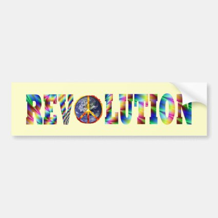Hippie Revolution Car Bumper Sticker