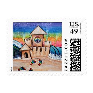 Hippie Sand Castle Stamp
