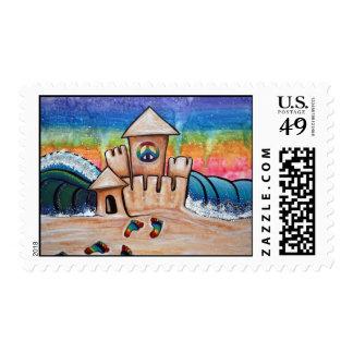 Hippie Sand Castle Postage