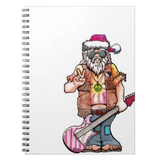 Hippie Santa Spiral Notebook
