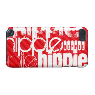 Hippie; Scarlet Red Stripes iPod Touch 5G Cover